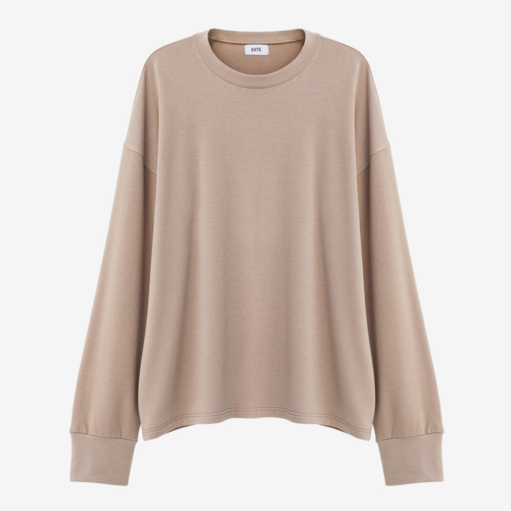 TERRY OVERSIZED LONG SLEEVE SAND - GHTG
