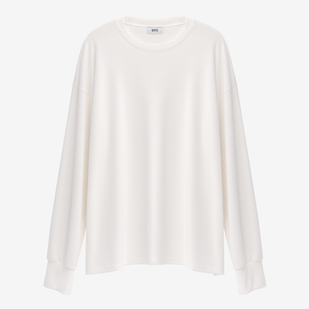 TERRY OVERSIZED LONG SLEEVE WHITE - GHTG