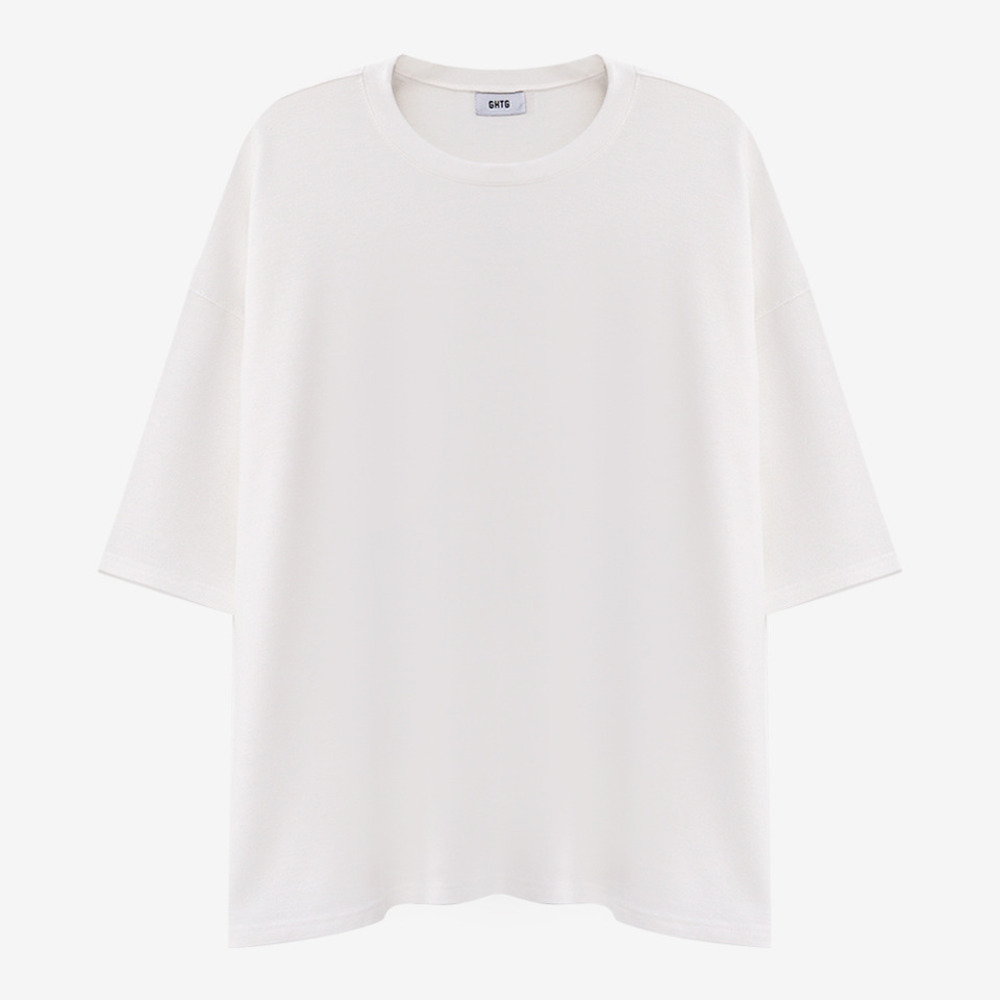 TERRY OVERSIZED SHORT SLEEVE WHITE - GHTG