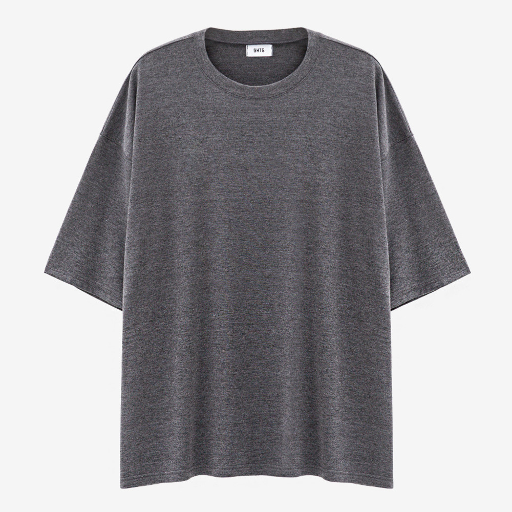 TERRY OVERSIZED SHORT SLEEVE GRAY - GHTG