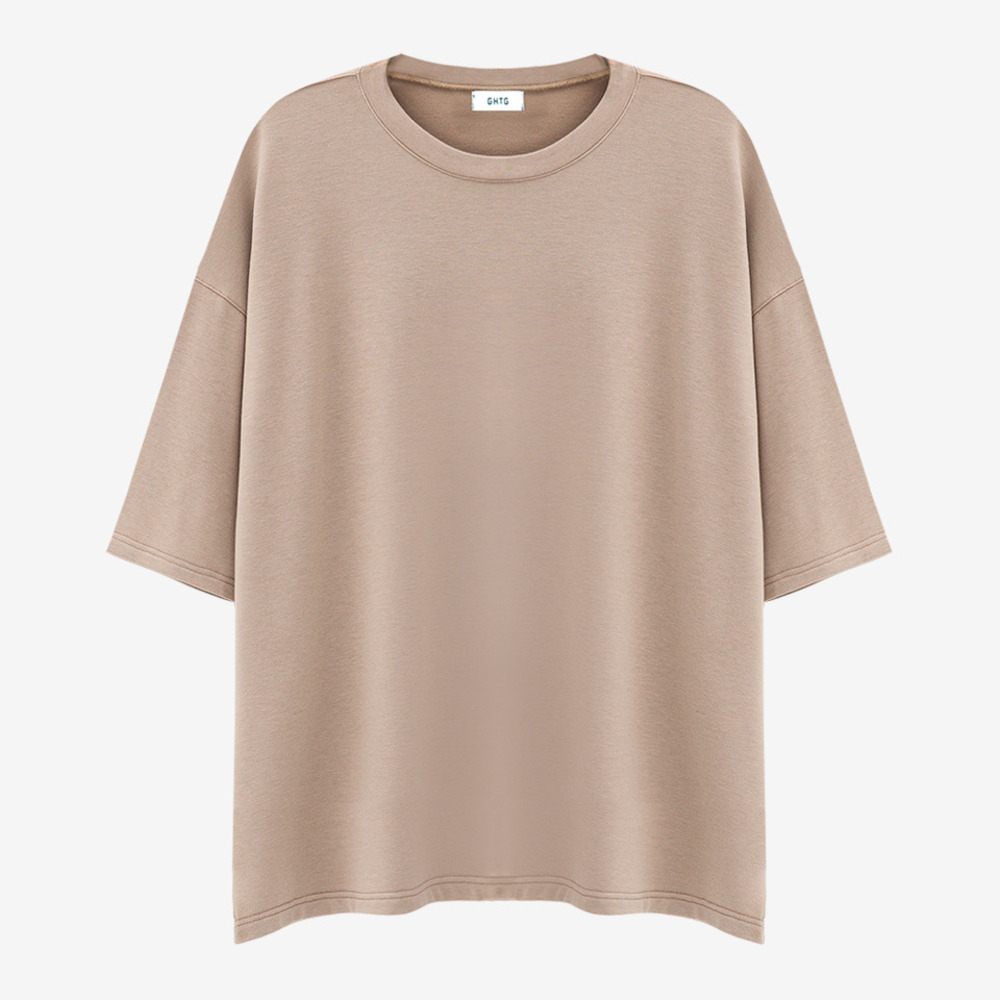 TERRY OVERSIZED SHORT SLEEVE SAND - GHTG