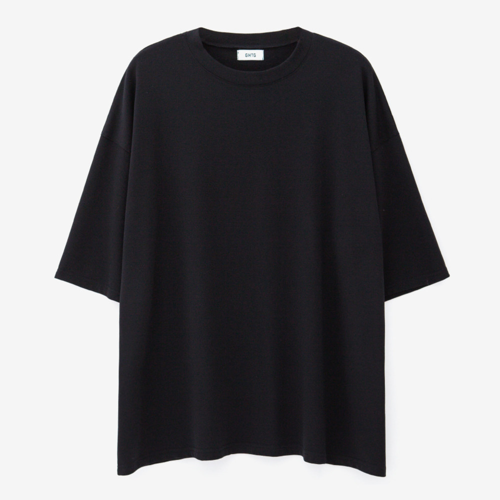 TERRY OVERSIZED SHORT SLEEVE BLACK - GHTG